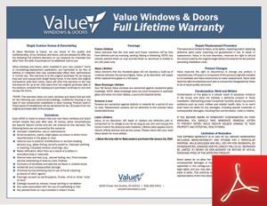 Value warranty certificate