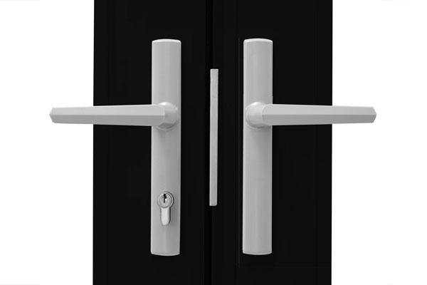 Brushed nickel multiple folding Door Handle