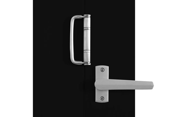 Satin chrome finish twin bolt lock