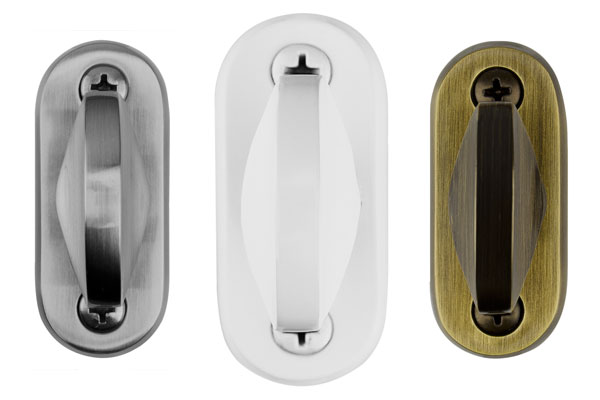Sidelite latch in Brushed Chrome
