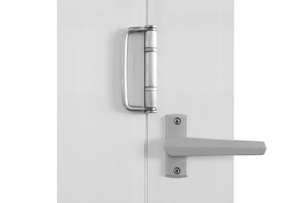 Brushed nickel twin bolt lock