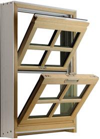 Fusionwood Double Hung Window