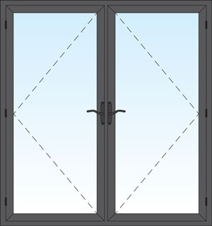 Aluminum French Swing Door Image