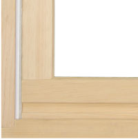 wood composite window and door frame material