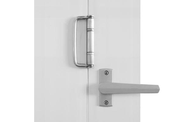 Brushed nickel twin bolt lock